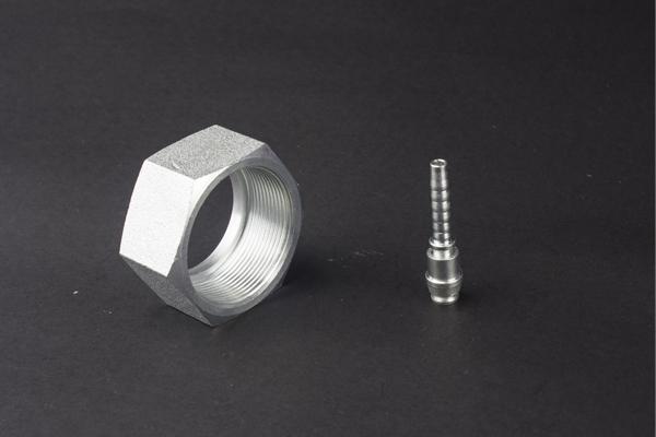 ORFS FEMALE FLAT सीट्सलेस स्टील की नली निप्पल फिटिंग नली पाइप हाइड्रोलिक
